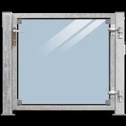 Glazen tuindeur 115x91cm in frame met palen