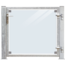 Plus Danemark Glass garden door115x91cm in frame with lock and posts for mounting on wood or concrete