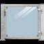Plus Danemark Glazen tuindeur 115x91cm in frame met slot en palen voor montage op hout of beton