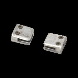 2x Pinces à verre pour poteaux carrés & pour verre trempé (6mm)