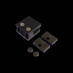 2x Pinces à verre pour poteaux rond Ø 42,4mm & pour verre trempé (6mm)