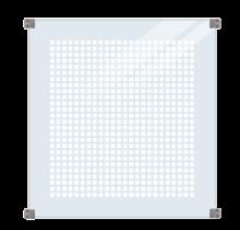 Glazen Tuinafscheiding Zeefdruk - gehard glas 6mm - 90x91cm