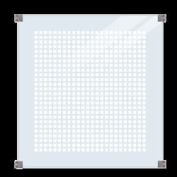 Panneau verre trempé 6mm sérigraphié  - 90x91cm