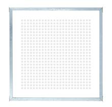 Glazen Tuinafscheiding Zeefdruk - gehard - in frame - 90x91cm