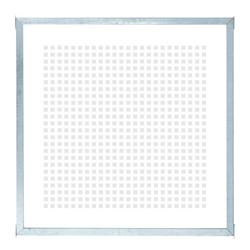 Glazen balkon - tuinafscheiding Zeefdruk - gehard - in frame - 90x91cm