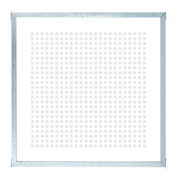 Screen-printed Glass Balcony Screen - tempered - in frame - 90x91cm