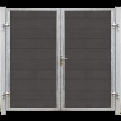 FUTURA portail 2 vantaux en WPC 213x180cm