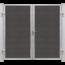 Plus Danemark FUTURA tuinpoort dubbel -  houtkomposiet stalen frame met slot en palen - 213x180cm