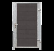 FUTURA houtcomposiet tuindeur enkel 115x180cm - stalen frame met slot en palen