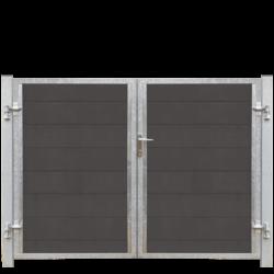 FUTURA portail 2 vantaux en WPC 213x145cm