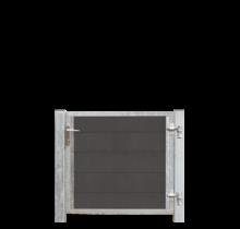 FUTURA houtcomposiet tuindeur enkel 115x91cm - stalen frame met slot en palen