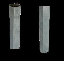 Paal vierkant 45x45x1860mm om in beton te gieten - staal