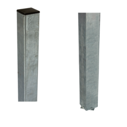 Steel Pole square 45x45x1860mm for casting into concrete