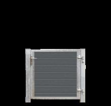 Houtcomposiet tuinpoort Enkel - stalen frame met slot en palen - 115x95cm - ARTURA