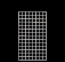Stalen rek met rand - voor tuin omheining en planten - 80x170cm - 80x140cm