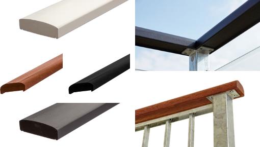 PLUS - Balcon Leuningen van hout, staal en glas