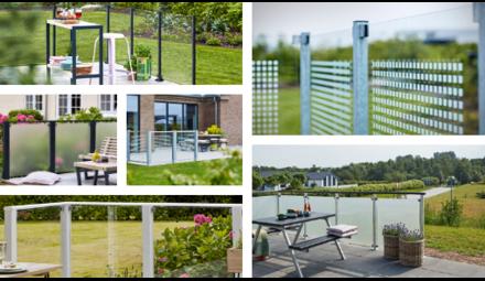 Glass Balcony - garden Screens