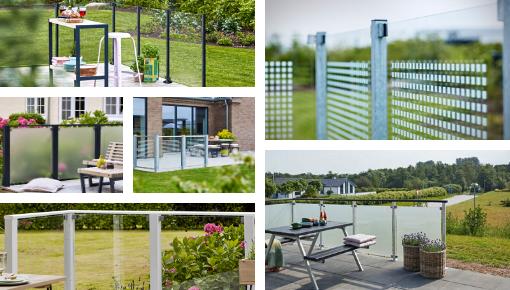 PLUS - Glass Balcony - Garden Screens