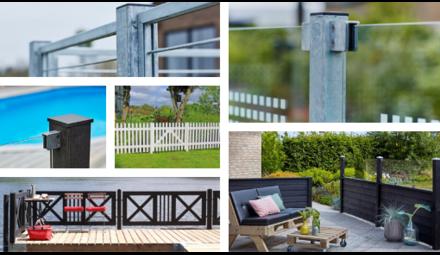 Poteaux de jardin et clôture