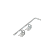 Afsluitpen - 40cm - dubbele deur - thermisch verzinkt staal