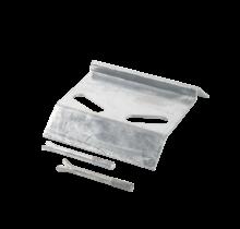 Plaat voor afsluitschroef - 19x17cm - thermisch verzinkt staal