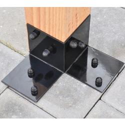 Floor bracket for pergola