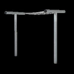Etendoir à linge en acier 520x130x200cm