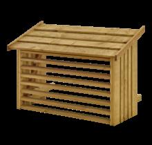 Omkasting airco / warmtepomp van geïmpregneerd hout - diverse kleuren - 96x56x57cm