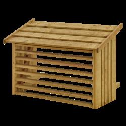 Cache climatisation - bois traité sous pression