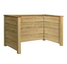 PLANK Cache poubelle en bois traité sous pression - 194x97x108cm