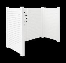 TOKYO container ombouw van wit gegrond hout -  197x100x148cm