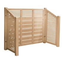 SILENCE Cache poubelle en bois traité sous pression  - 193x81x118/148cm