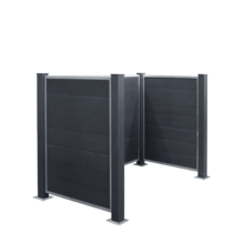 FUTURA container ombouw van HKC - montage op fundering - 196x106x133cm
