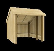 Fietsenstalling van hout - 248x250x229cm - met of zonder deuren