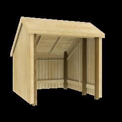 Fietsenstalling van hout - 248x250x229cm