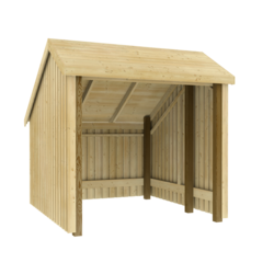 Wooden bicycle shed- 248x250x229cm