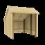 Plus Danemark Fietsenstalling van hout - 248x250x229cm - met of zonder deuren