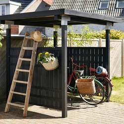 Wooden bicycle shed - 248x248x190cm
