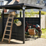 Plus Danemark Bicycle shed made of wood - 248x248x190cm - CUBIC