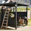 Plus Danemark Fietsenstalling van hout - 248x248x190cm - CUBIC