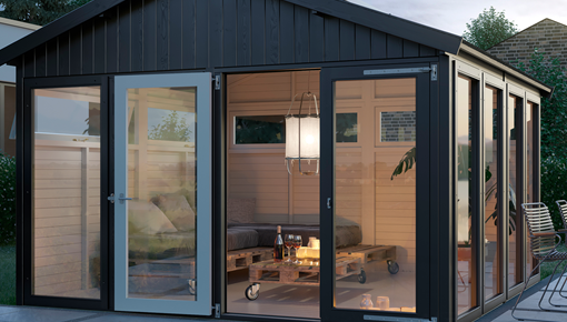 Garden houses, garages, sheds and shelters
