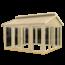 Plus Danemark Summerhouse with windows and double door, floor is optional - 350x350x283cm