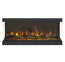 Levico 3D Design fireplace, 91cm wide, natural fire look because of LED light, cozy warmth.