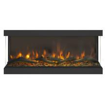 Levico 3D Design wandhaard, 91cm breed, realistisch vuurbeeld, verwarming, 3-zijdig zicht