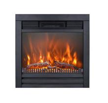 Lucius Design haard, 62cm breed, realistisch vuurbeeld door LED en hout, aangename warmte