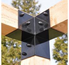 3-way Corner bracket for pergola 85x85mm GARVIKS