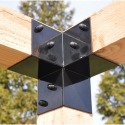 3-way Corner bracket for pergola 85x85mm GARVIKS
