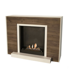 Marvik Fireplace - 133x33x100cm