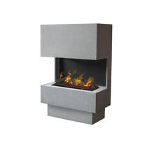 Nuoro Haard in betonlook - compact en open - 1195x760x350mm