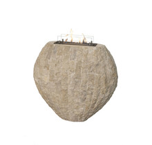 Shigo Design Haard in broken stone - bio-ethanol - 850x900x400mm